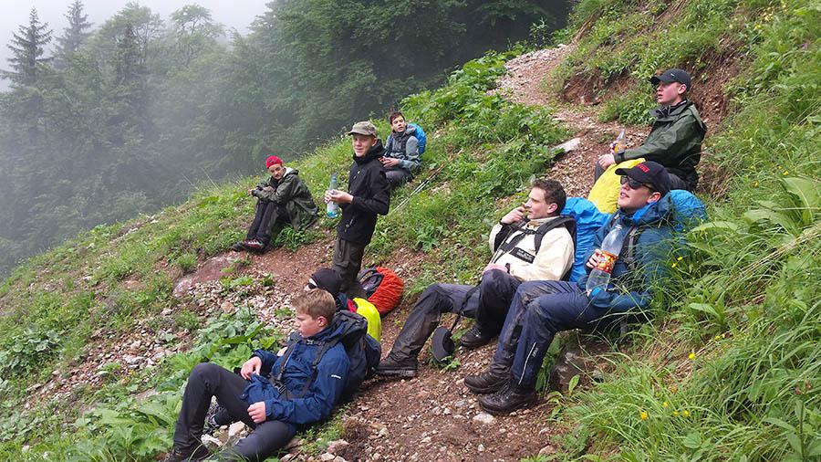 Trekking_1. Etappe Alpen
